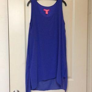 NWT Royal blue chiffon dress